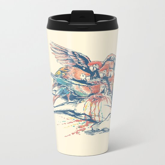 Vultures Metal Travel Mug