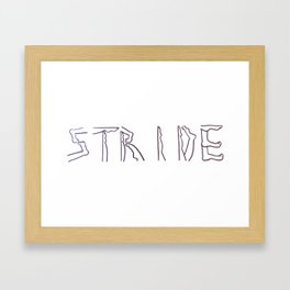 """""""Stride"""" Framed Art Print"""