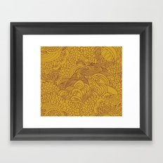 yellow seeds Framed Art Print