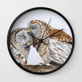 Owl always love you. Wall Clock