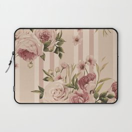 Flowers and Stripes Two Laptop Sleeve