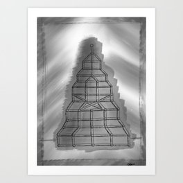 So They Built a Structure Art Print