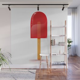Bright Red Lolly. Wall Mural