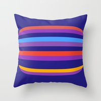 hamburger Throw Pillows featuring Abstract Hamburger by Betty Mackey