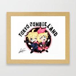 Kagamine Twins [Chibi] Vocaloid Framed Art Print