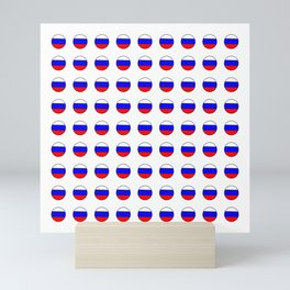 Flag of russia 4 -rus,ussr,Russian,Росси́я,Moscow,Saint Petersburg,Dostoyevsky,chess Mini Art Print