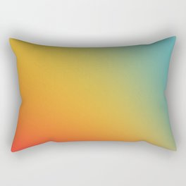 Gradient Colours: Red Yellow Blue Rectangular Pillow