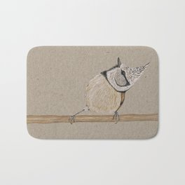 Crested tit Bath Mat