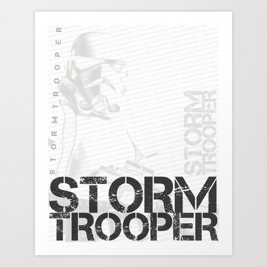 Star Wars Stormtrooper - Digital Art Print Art Print