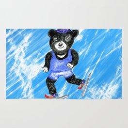 Skating bear Rug