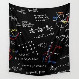 math blackboard Wall Tapestry