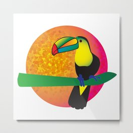 Toucan - White Metal Print
