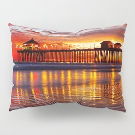 Huntington Beach Sunset   12/2/13 Pillow Sham