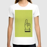 lime green T-shirts featuring Direction Lime Green by Claire Doherty