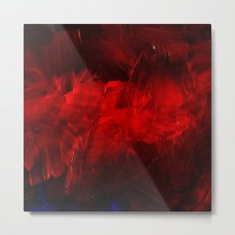 Red And Black Abstract Gothic Glam Chic Metal Print