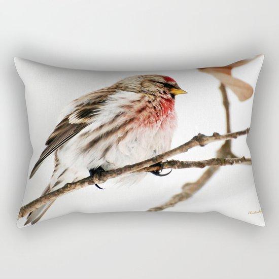 Common Redpoll Bird Rectangular Pillow