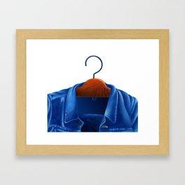 Jacket jeans that hung on the hanger Framed Art Print