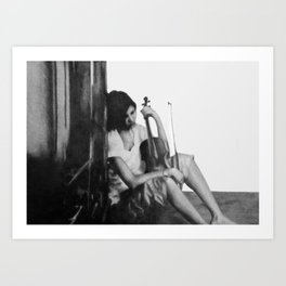 Cello Player  Art Print