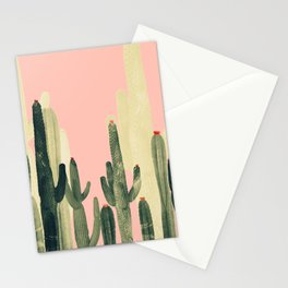 pink cactus Stationery Cards