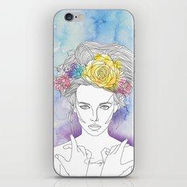 Flower Queen iPhone Skin