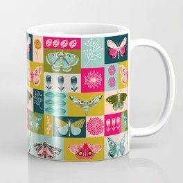 Lepidoptery tiles by Andrea Lauren  Coffee Mug