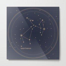 Vintage Sagittarius Metal Print