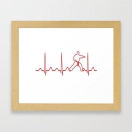 Karate Man Heartbeat Framed Art Print