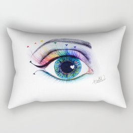 Eye see rainbows Rectangular Pillow
