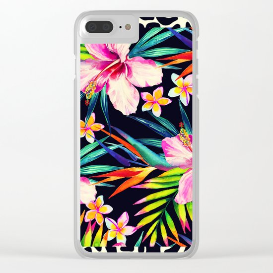 tropical wild 2 Clear iPhone Case