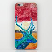 rothko iPhone & iPod Skins featuring Deer Rothko by winterkl