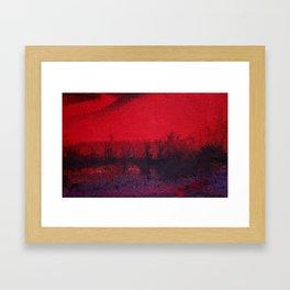 Evening in the Bushes Framed Art Print