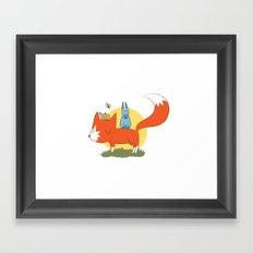 foxy friends. Framed Art Print