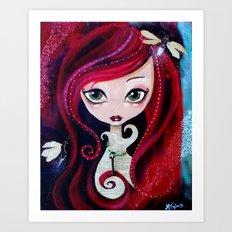 Red Portrait Art Print