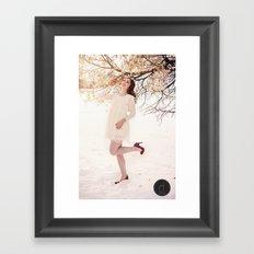 Dancing in winter madness Framed Art Print