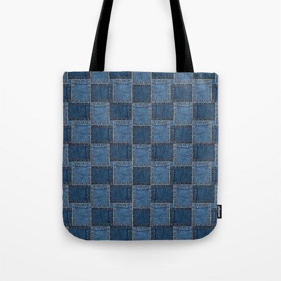 Denim Patch Tote Bag