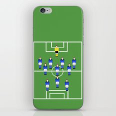 Football Soccer sports team in blue iPhone Skin