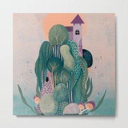 Floating dragon's home Metal Print