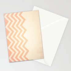 Orange Textured Chevron Stationery Cards