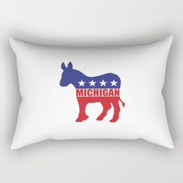 Michigan Democrat Donkey Rectangular Pillow