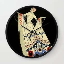 """""""The Jewelled Gown"""" Art Deco by J Carlos Wall Clock"""