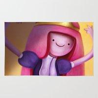princess bubblegum Area & Throw Rugs featuring Princess Bubblegum by This Is Niniel Illustrator