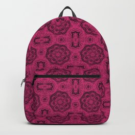 Pink Yarrow Doily Floral Backpack