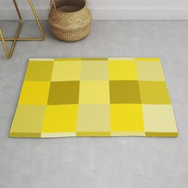 Yellow shades squares Rug