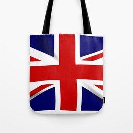 Union Jack Grunge Tote Bag