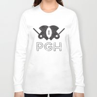 pittsburgh Long Sleeve T-shirts featuring Pittsburgh Football by John Trivelli