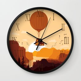 Flying House Wall Clock