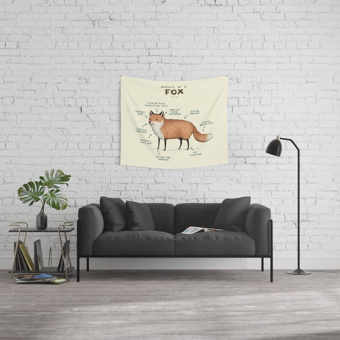 Anatomy of a Fox Wall Tapestry