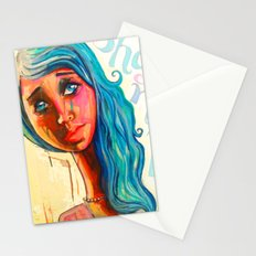 She'd be standing next to me.  Stationery Cards