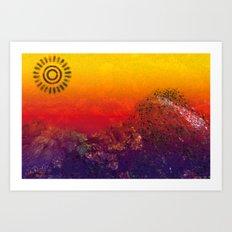 Mountain Series - Sunset Art Print