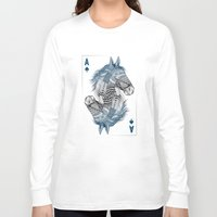 ace Long Sleeve T-shirts featuring American Pharoah (Ace) by Rachel Caldwell